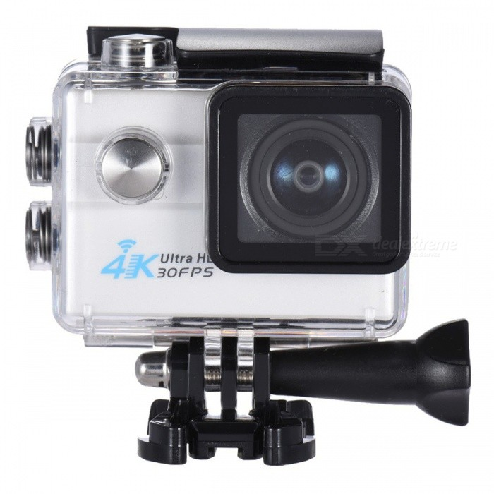2 Ultra HD 4K 1080P 16MP 4X Zoom Wi-Fi Sport Camera - WhiteSport Cameras<br>Form  ColorWhite + BlackShade Of ColorWhiteMaterialABSQuantity1 pieceImage SensorOthers,16Mega Pixels CMOS SensorAnti-ShakeYesFocal DistanceFocusing RangePhotographed function: Panoramic (5M/8M/12M/16M) mFocusing RangeFocusing RangePhotographed function: Panoramic (5M/8M/12M/16M)Optical Zoom4XDigital Zoom4XEffective Pixels4K 30fps/2.7K 30fps/1080P 60fps/1080P 30fps/720P 120fps/720P 60fps/720P 30fpsImagesJPGStill Image Resolution16MP(4640*3480)/12MP(4032*3024)/8MP(3264*2448)/5MP(2592*1944)/2MP(1920*1080).VideoMOVVideo ResolutionVideo resolution of 4K 30fpsinterpolated/2.7K 30fps/1080P 60fps/1080P 30fps/720P 90fps/720P 60fps/720P 30fps.Video Frame Rate30,60Cycle RecordYesISO100Exposure Compensation3;+1.0;+2Supports Card TypeSDSupports Max. Capacity64 GBBuilt-in Memory / RAMNoLCD ScreenYesScreen Size2 inchesBattery Measured Capacity 900 mAhNominal Capacity900 mAhBattery included or notYesPacking List1 x Camera1 x Battery1 x Waterproof Case8 x Mount Tools1 x Camera Clip1 x Clip2 x Helmet Mounts4 x Bandages2 x Adhesives4 x Tethers1 x Metal Tether1 x Protective Back1 x USB Cable1 x Clean Cloth<br>