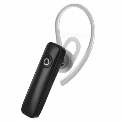 Mini Bluetooth Earpiece Headset with Microphone - Black