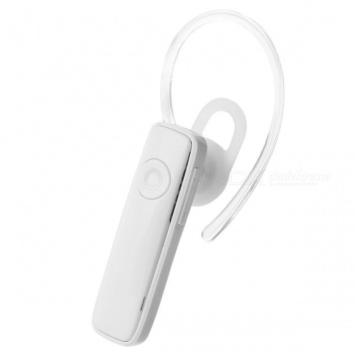 Mini Bluetooth Earpiece Headset with Microphone - WhiteOther Bluetooth Devices<br>Form  ColorWhiteMaterialPlasticQuantity1 DX.PCM.Model.AttributeModel.UnitShade Of ColorWhiteBluetooth VersionBluetooth V4.0Operating Range10MStandby Time4 DX.PCM.Model.AttributeModel.UnitApplicable ProductsIPHONE 5,IPHONE 4,IPHONE 4S,IPHONE 3G,IPHONE 3GS,IPOD,IPAD,Universal,Digital Camera,Cellphone,GPS,MP3,PDA,MP4,Tablet PC,IPHONE 5S,IPHONE 5CBuilt-in Battery Capacity 150 DX.PCM.Model.AttributeModel.UnitPower Supply3W 3MAPacking List1 x Bluetooth headset1 x User Guide1 x Charging Cable1 x Ear Hook<br>