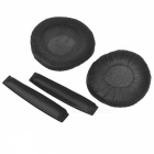 Soft Sponge Headphone Sleeves with Head Beam - Black (1 Pair)