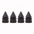MZ Spike Style Tire Valve Stem Caps for Car Motorcycle - Black (4 PCS)