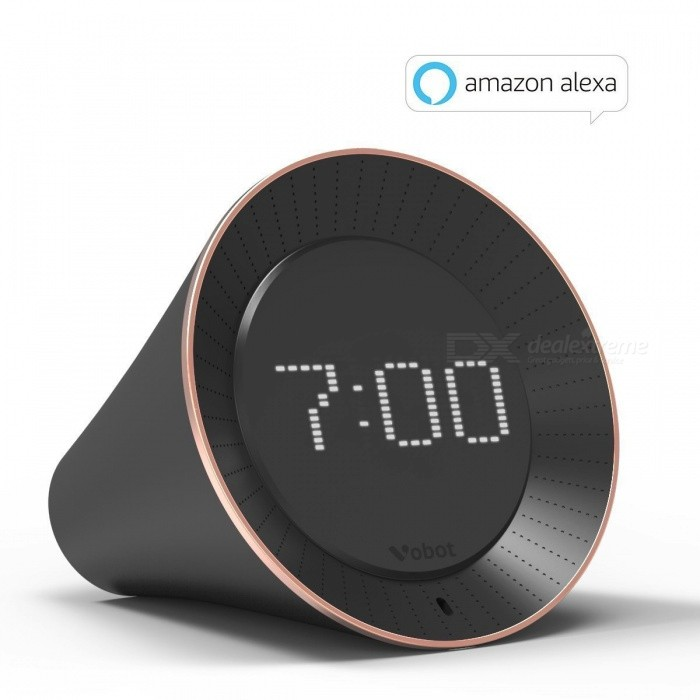VOBOT Smart Alarm Clock with Amazon Alexa - Black