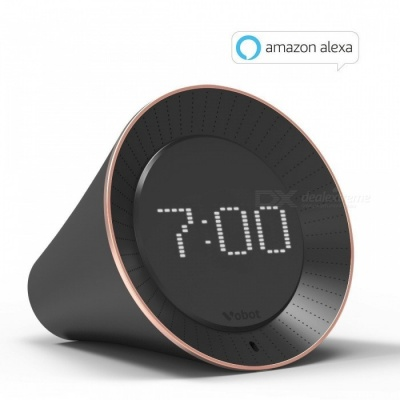 VOBOT Smart Clock Sveglia con Amazon Alexa - Nero