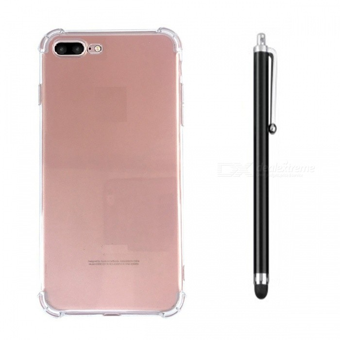 SZKINSTON Shockproof Case with Capacitive Pen for IPHONE 7, 7S PLUS, 8 PLUSTPU Cases<br>Form  ColorTransparentModelKST1707069Quantity1 DX.PCM.Model.AttributeModel.UnitMaterialTPUCompatible ModelsiPhone 7 PLUS,Others,iPhone 7S PLUS, IPHONE 8 PLUSDesignSolid Color,Transparent,Special ShapedStyleBack CasesPacking List1 x Case1 x Black Metal Capacitive Pen1 x Pretty Red Box<br>