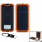 """30000mAh"" Solar Powered Battery Bank + Compass - Orange"