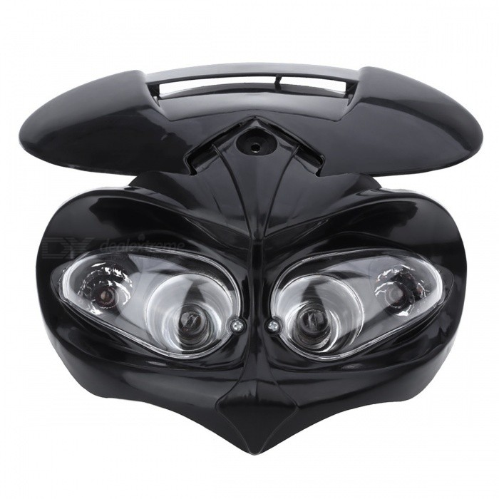 PANIER Universal LED Moto Phare Enduro Cross Lampe - Noir