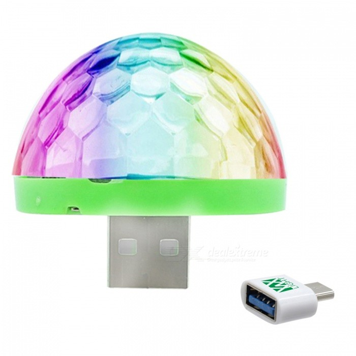 YWXLight Mini USB Crystal Ball Stage Light for HUAWEI - White (DC 5V)Stage Lights<br>Form  ColorHUAWEI Interface (White)MaterialPCQuantity1 pieceShade Of ColorMulti-colorPattern TypeOtherTotal Power5 WPower AdapterOthers,USBPacking List1 x Mini Stage Light1 x HUAWEI Interface<br>