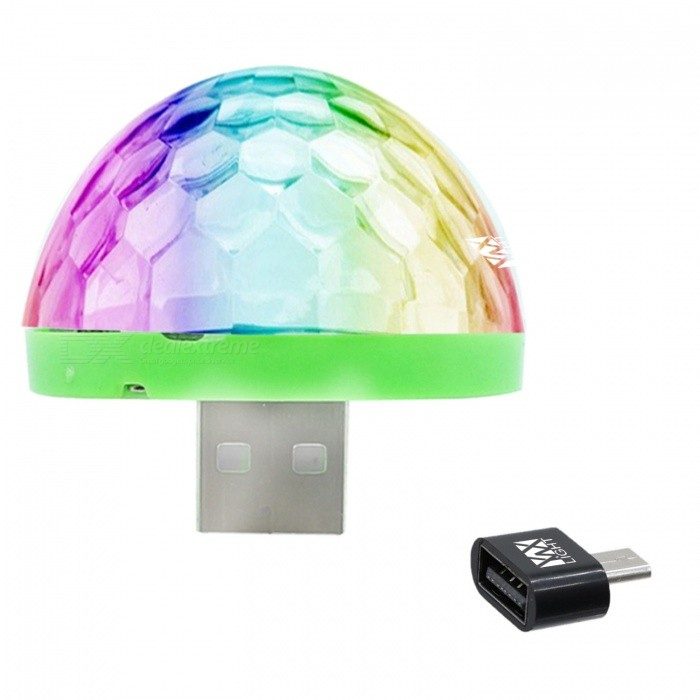 YWXLight Mini USB Crystal Ball Stage Light for HUAWEI - Black (DC 5V)Stage Lights<br>Form  Color HUAWEI Interface (Black)MaterialPCQuantity1 pieceShade Of ColorMulti-colorPattern TypeOtherTotal Power5 WPower AdapterOthers,USBPacking List1 x Mini Stage Light1 x HUAWEI Interface<br>