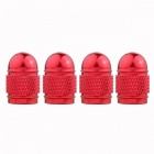 MZ Bullet Style Tire Valve Stem Caps for Car - Red (4 PCS)