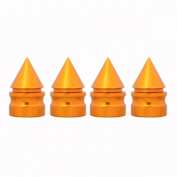 MZ Spike Style Tire Valve Stem Caps for Car Motorcycle - Goden (4 PCS)Tire Valve Caps<br>Form  ColorGoldenModelN/AQuantity1 DX.PCM.Model.AttributeModel.UnitMaterialAluminumShade Of ColorGoldCompatible MakeUniversalDiameter8 DX.PCM.Model.AttributeModel.UnitThread1 DX.PCM.Model.AttributeModel.UnitPacking List4 x Valve Caps<br>
