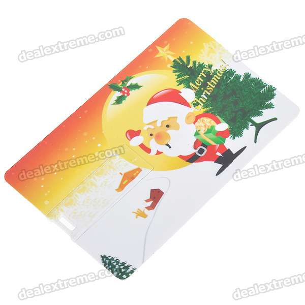Credit Card Style USB Flash/Jump Drive - Santa Claus (2GB)