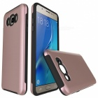 Protective Wire Drawing PC TPU Case for Samsung Galaxy J510 -Rose Gold