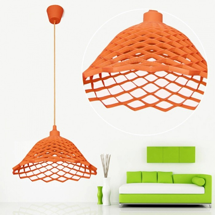 YouOKLight Modern Silica Gel E27 Pendant Light Mesh Holder - OrangeOther Accessories<br>Form  ColorOrangeModelYK2410MaterialSoft Silica GelQuantity1 DX.PCM.Model.AttributeModel.UnitRate VoltageAC 85-265VConnector TypeE27Packing List1 x Modern Chandelier Fixture (No Include Lamp)<br>