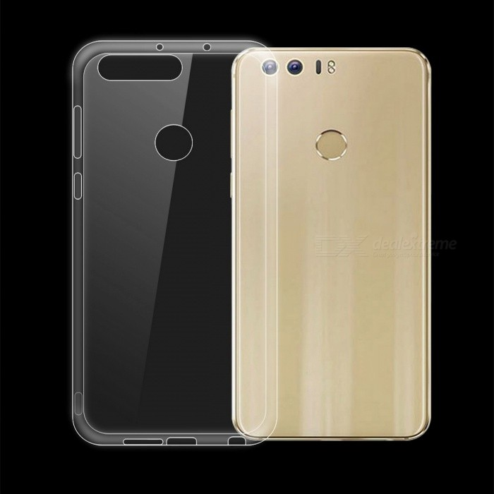 Dayspirit Ultra-Thin TPU Back Cover Case for Huawei Honor 8TPU Cases<br>Form  ColorTransparentModelN/AMaterialTPUQuantity1 pieceShade Of ColorTransparentCompatible ModelsHuawei Honor 8Packing List1 x Case<br>