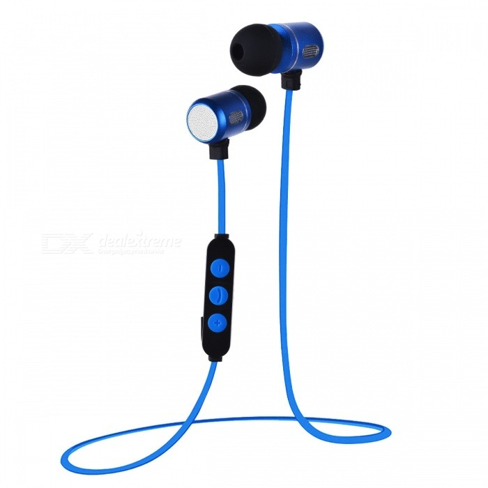 Bluetooth Wireless Earbuds Earphone for Sports - BlueOther Bluetooth Devices<br>Form  ColorBlack + BlueMaterialTitanium alloy + plasticQuantity1 DX.PCM.Model.AttributeModel.UnitShade Of ColorBlackBluetooth VersionBluetooth V4.0Bluetooth ChipJIANRONGOperating Range10MStandby Time10 DX.PCM.Model.AttributeModel.UnitApplicable ProductsPS3,IPHONE 5,IPHONE 4,IPHONE 4S,IPHONE 3G,IPHONE 3GS,IPOD,IPAD,Universal,Digital Camera,Cellphone,GPS,MP3,PDA,MP4,Tablet PC,IPHONE 5S,IPHONE 5CBattery TypeOthers,Polymer lithium batteryBuilt-in Battery Capacity 100 DX.PCM.Model.AttributeModel.UnitPower AdapterUSBPower Supply5V 0.8APacking List1 x Bluetooth Earphone<br>