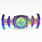 Zinc Alloy Fishbone Stress Relief Fidget Spinner Toy - Colourful