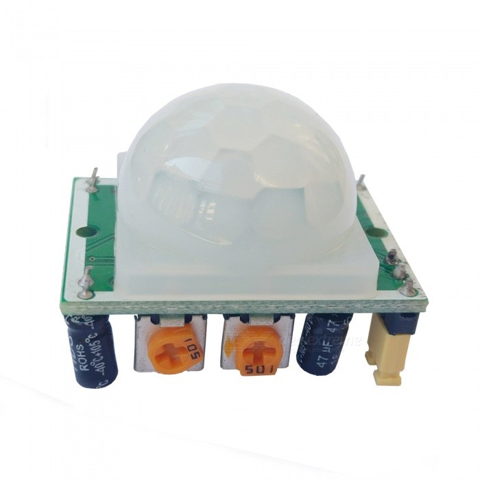 4.5-20V Human Body Infrared Sensor ModuleSensors<br>Form  ColorWhite + MulticolorModelSR501Quantity1 pieceMaterialPCE-AApplicationWalkway, bathroom, basement, warehouse, hotel, supermarket and other places of automatic lighting!Working Voltage   4.5-20 VWorking CurrentDownload Link   NoPacking List1 x Sensor module<br>