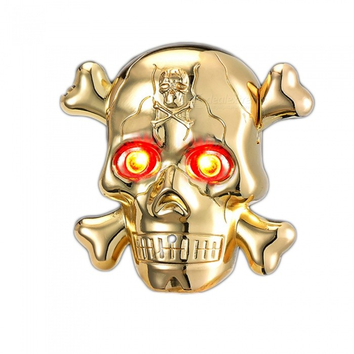ZHAOYAO Cigarette Electronic Lighter Skull Head USB LED - GoldenOther Lighters<br>Form  ColorGoldenQuantity1 piecesShade Of ColorGoldTypeUSBPower SupplyLithium batteryCharging Time2 hoursPacking List1 x Lighter1 x Data line<br>