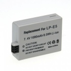 LP-E5 Compatible 7.4V 1080mAh Battery Pack for Canon EOS 450D