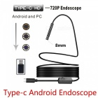 BLCR 8mm 8-LED 720P USB Type-C Android PC Endoscope with Hardwire (3m)