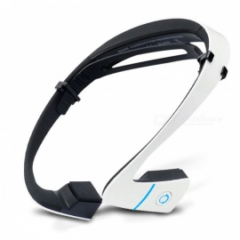 Sports Wireless Bluetooth Headset, Bone Conduction Earphone - White