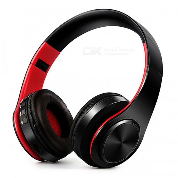 Bluetooth Wireless Stereo Sport Headphone with Mic - Black, RedHeadphones<br>Form  ColorBlack + RedBrandOthers,N/AMaterialPlasticQuantity1 DX.PCM.Model.AttributeModel.UnitConnectionBluetoothBluetooth VersionBluetooth V4.0Operating Range10MConnects Two Phones SimultaneouslyYesHeadphone StyleBilateral,HeadbandWaterproof LevelOthers,N/AApplicable ProductsUniversalHeadphone FeaturesPhone Control,Long Time Standby,Noise-Canceling,Volume Control,With Microphone,Portable,For Sports &amp; ExerciseSupport Memory CardYesMemory Card SlotStandard TF CardSupport Apt-XYesSensitivity84dBFrequency Response20-20000HzImpedance32 DX.PCM.Model.AttributeModel.UnitBattery TypeLi-ion batteryBuilt-in Battery Capacity 400 DX.PCM.Model.AttributeModel.UnitStandby Time250 DX.PCM.Model.AttributeModel.UnitTalk Time10 DX.PCM.Model.AttributeModel.UnitPacking List1 x Headphone<br>