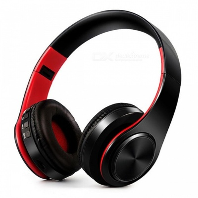 Bluetooth Wireless Stereo Sport Headphone with Mic - Black, Red