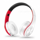 Bluetooth Wireless Stereo Sport Headphone with Mic - White, Red