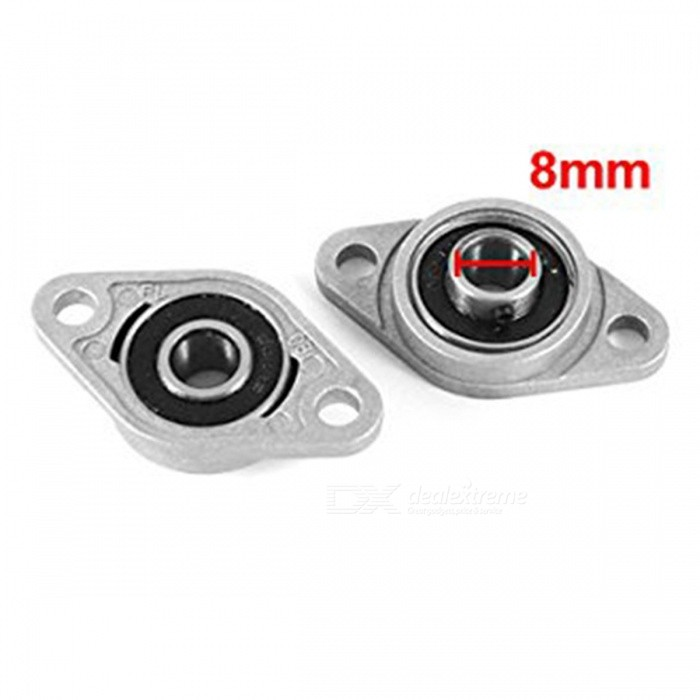 KFL08 8mm Zinc-Aluminum Alloy Flange Pillow Block Bearing (2 PCS)DIY Parts &amp; Components<br>Form  ColorGrey + Black + Multi-ColoredModelKFL08Quantity2 DX.PCM.Model.AttributeModel.UnitMaterialZinc alloyEnglish Manual / SpecNoCertificationN/APacking List2 x Flange bearings<br>
