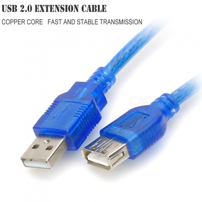 Usb 2 0 Extension Cables : Usb male to female extension cable blue cm