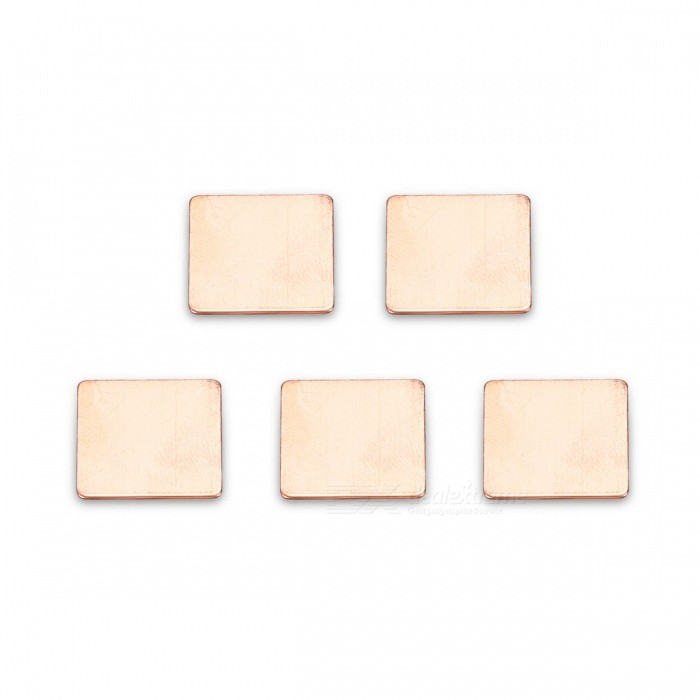 DIY 15x15x6mm Copper Thermal Conductive Pads (5 PCS)