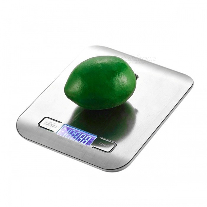 5Kg x 1g LCD Digital Kitchen Scale - SilverForm  ColorSilverMaterialStainless SteelQuantity1 DX.PCM.Model.AttributeModel.UnitPacking List1 x kitchen scale<br>