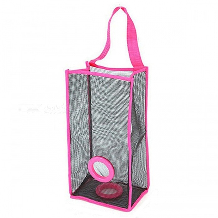 Kitchen Nylon Grid Garbage Bag Hanging Storage Bag - Deep Pink (L)Storage Box &amp; Bag <br>Form  ColorDeep PinkShade Of ColorPinkMaterialPVCQuantity1 DX.PCM.Model.AttributeModel.UnitPacking List1*holder in a pack<br>