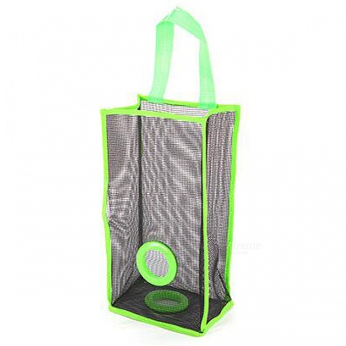 Kitchen Nylon Grid Garbage Bag Hanging Storage Bag - Green (L)Storage Box &amp; Bag <br>Form  ColorFruit GreenShade Of ColorGreenMaterialPVCQuantity1 DX.PCM.Model.AttributeModel.UnitPacking List1 * Bag<br>