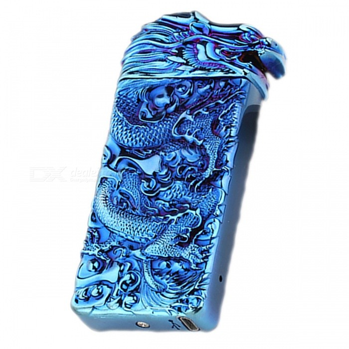 zhaoyao dragon head style usb electronic cigarette lighter blue