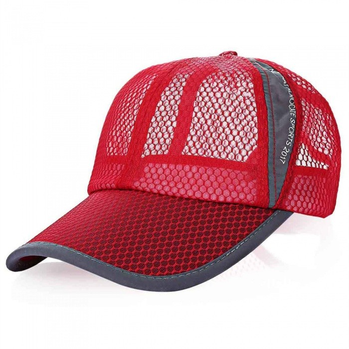 Outdoor Unisex Sun Shade Baseball Net Cotton Hat - Watermelon RedForm  ColorWatermelon RedSizeFree SizeQuantity1 DX.PCM.Model.AttributeModel.UnitMaterialCottonShade Of ColorRedSeasonsFour SeasonsGenderUnisexHead Circumference53-60 DX.PCM.Model.AttributeModel.UnitBest UseRunning,Mountaineering,Travel,Cycling,FishingSuitable forAdultsPacking List1 x Baseball Hat<br>