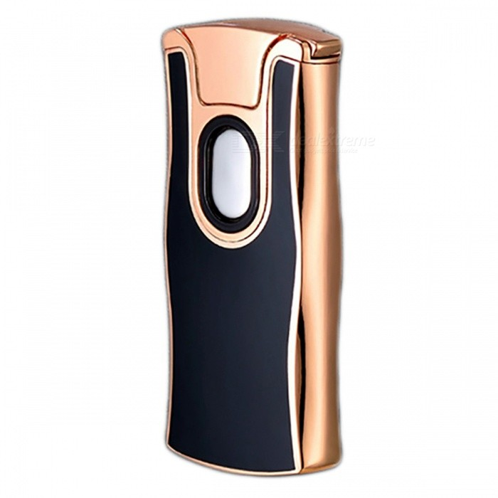 ZHAOYAO USB Charging Tungsten Filament Arc Lighter - Black, GoldenOther Lighters<br>Form  ColorBlack + GoldenMaterialZinc alloyQuantity1 pieceShade Of ColorBlackTypeUSBWindproofYesPower SupplyLithium batteryCharging Time1-2 hoursPacking List1 x Rechargeable lighter1 x Charging line<br>
