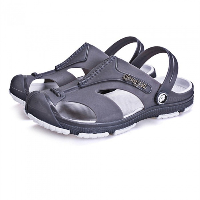 1721 Summer Mens Casual Beach Slippers - Gray (#41)Form  ColorGreySize41Model1721Quantity1 DX.PCM.Model.AttributeModel.UnitMaterialEVA,PVCShade Of ColorGrayGenderMensLiningEVA,PVCMidsoleEVA,PVCOutsoleEVA,PVCSuitable forAdultsBest UseFamily &amp; car campingPacking List1 x Pair of Shoes<br>