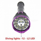 SPO L2 12-LED 3-Mode 7000LM Waterproof Diving Lamp