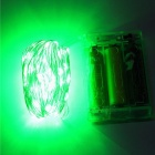 YouOKLight 10M Waterproof LED Green Silver String String - Batterie