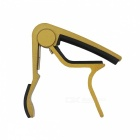 Aluminum alloy clip-on quick release capo for acoustic guitar - yellow