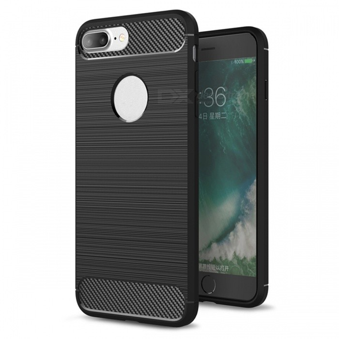 Dayspirit Wire Drawing Carbon Fiber TPU Case for IPHONE 7 PLUS, 8 PLUSTPU Cases<br>Form  ColorBlackModelN/AQuantity1 DX.PCM.Model.AttributeModel.UnitMaterialTPUCompatible ModelsiPhone 7 PLUSDesignOthers,Carbon fiberStyleBack CasesPacking List1 x Case<br>