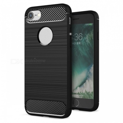 Dayspirit Wire Drawing Carbon Fiber TPU Case for IPHONE 7, 8