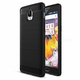 Dayspirit Wire Drawing Carbon Fiber TPU Case for OnePlus 3, 3T