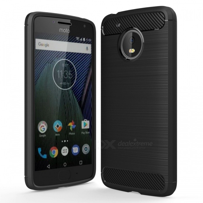 Dayspirit Wire Drawing Carbon Fiber TPU Case for Motorola MOTO G5