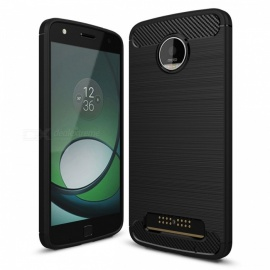 Dayspirit Wire Drawing Carbon Fiber TPU Case for Moto Z Play
