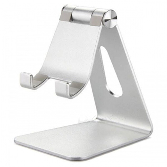 Universal Desktop Phone Tablet Stand Holder Bracket - Silver