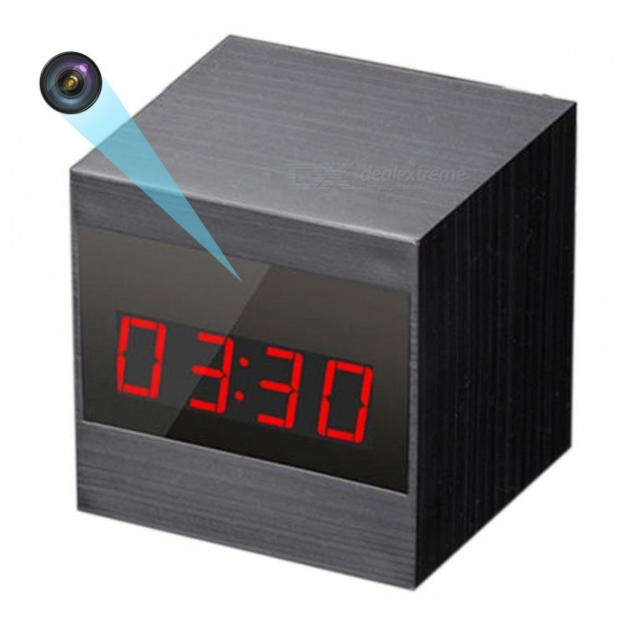 Mini 1080 HD Camera Clock with Remote Control - Peach BlackCCTV Cameras<br>Form  ColorPeach Black + BlackMaterialABSQuantity1 pieceImage SensorCMOSNight VisionYesBuilt-in Memory / RAMNoPower AdapterUSBFunctionIR,Day / night switchPacking List1 x 1080p Mini Clock camera1 x Battery capacity 2400MA1 x Wireless remote controller1 x USB charging connecting line1 x Manual English1 x Color carton packaging<br>