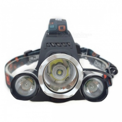 XM-L T6 3-LED 4-Mode White Light 3000Lm Rechargeable Headlight (EU Plug)