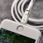 HOCO Zinc Alloy Jelly Knitted Charging Cable for iPhone Apple - Silver